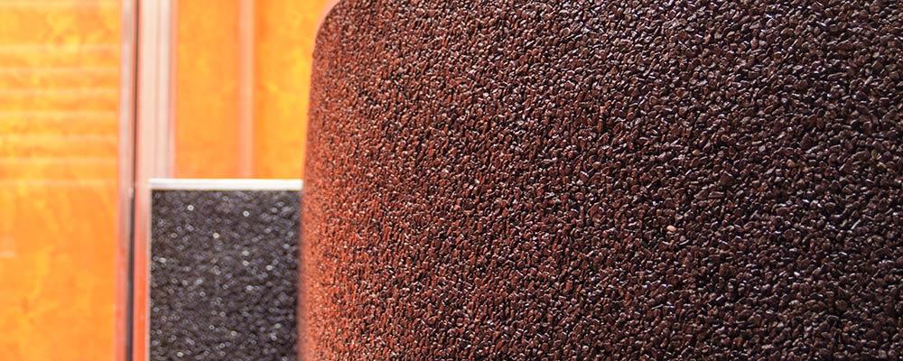 Super Pareti rivestite in granuli di pietra naturale | Debowa sas  YX41