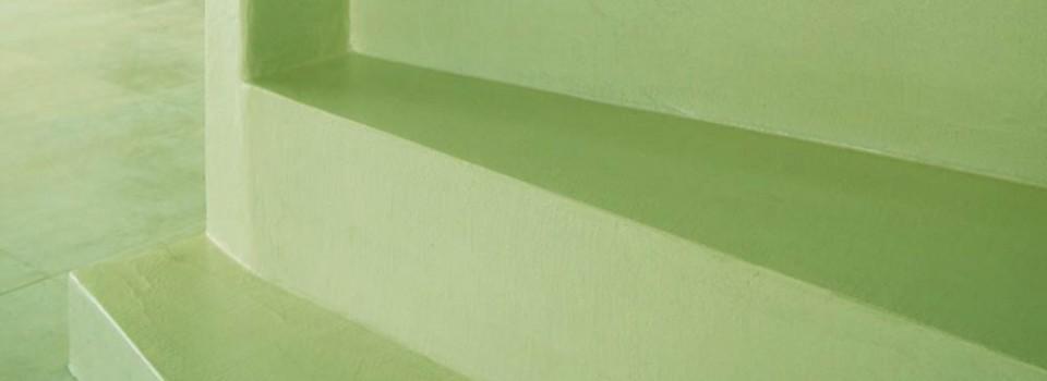 Debowa soffitti tesi pavimenti in granuli di pietra for Scale rivestite in resina