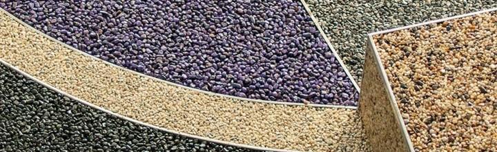 Piastrelle o pavimento in granuli di pietra naturale - Piastrelle in pietra naturale ...