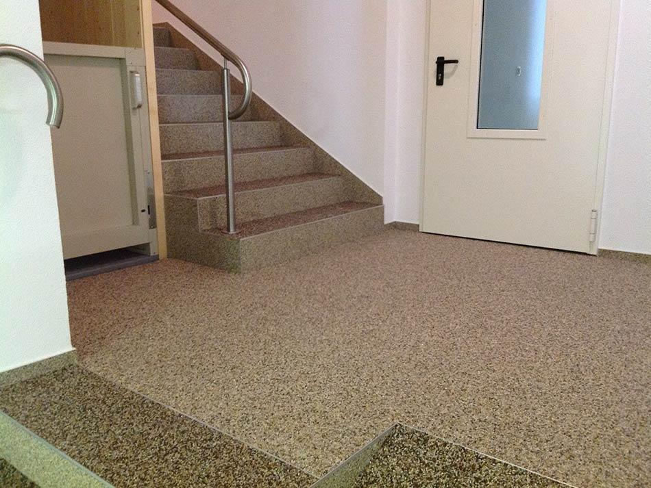 treppen natursteinteppich spanndecken kunstharzbeschichtungen. Black Bedroom Furniture Sets. Home Design Ideas